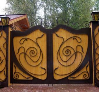Кованые ворота №56