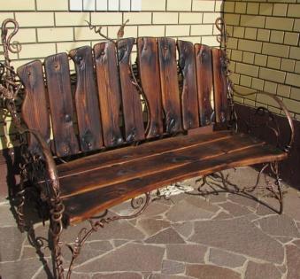 Кованые скамейки и мебель №8