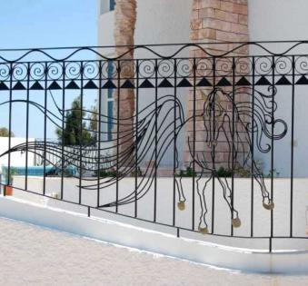 Кованый забор №91