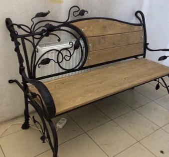 Кованые скамейки и мебель №9