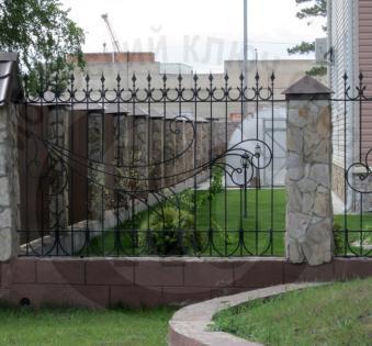 Кованый забор №7