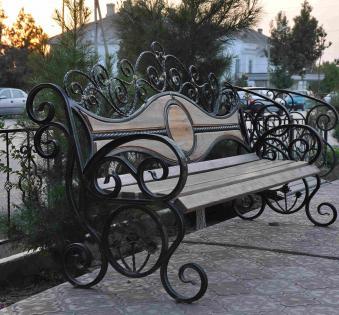 Кованые скамейки и мебель №47