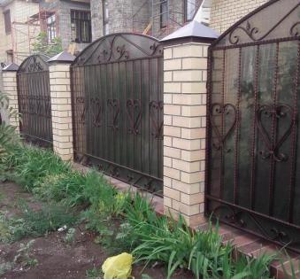 Кованый забор №103