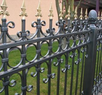 Кованый забор №104