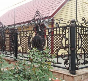 Кованый забор №105