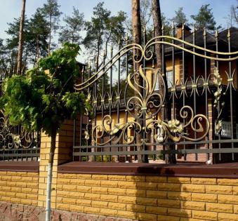 Кованый забор №106