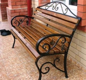 Кованые скамейки и мебель №49