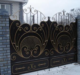 Кованые ворота №77