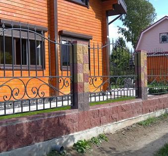 Кованый забор №47