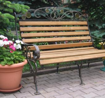 Кованые скамейки и мебель №50