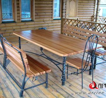Кованые скамейки и мебель №11