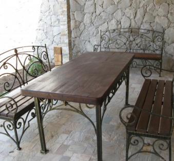 Кованые скамейки и мебель №12