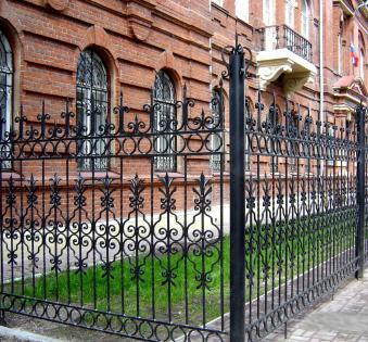 Кованый забор №110