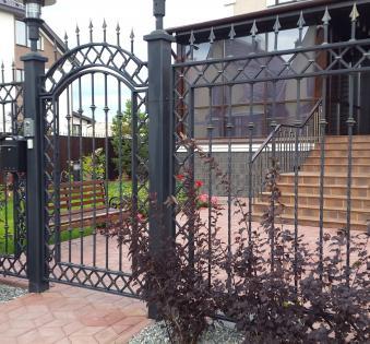 Кованый забор №49