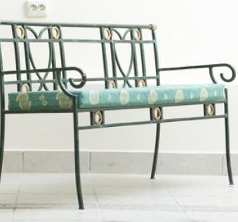 Кованые скамейки и мебель №59