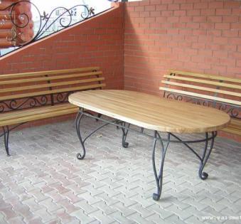 Кованые скамейки и мебель №61