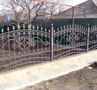 Кованый забор №113