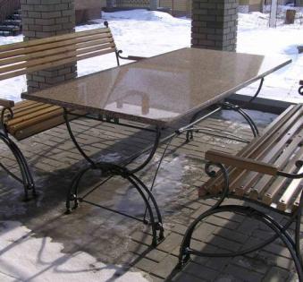 Кованые скамейки и мебель №63