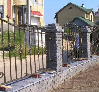 Кованый забор №114