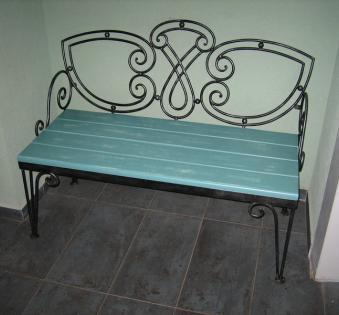 Кованые скамейки и мебель №65