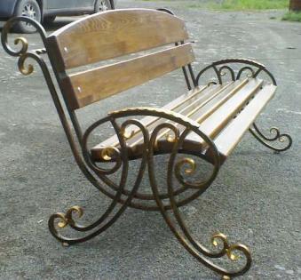 Кованые скамейки и мебель №66