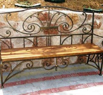 Кованые скамейки и мебель №67