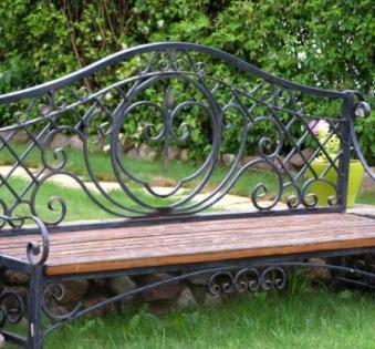 Кованые скамейки и мебель №71
