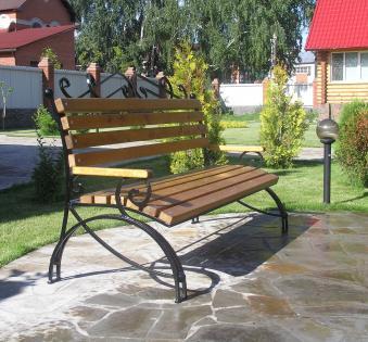 Кованые скамейки и мебель №58