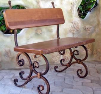 Кованые скамейки и мебель №74