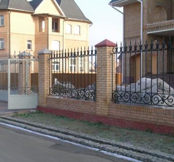 Кованый забор №116
