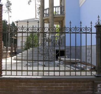 Кованый забор №119
