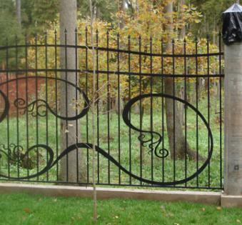 Кованый забор №118
