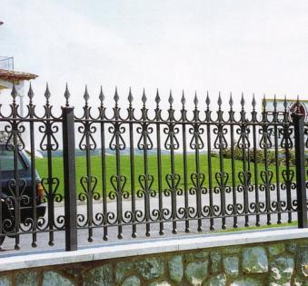 Кованый забор №117